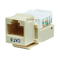 Product Image for Cat6 RJ-45 Toolless Keystone - Beige