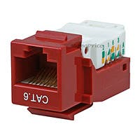 Product Image for Cat6 RJ-45 Toolless Keystone - Red 