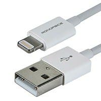 4-inch MFi Certified Lightning™ to USB Charge/ Sync Cable for iPad®, iPhone®, and iPod® - White