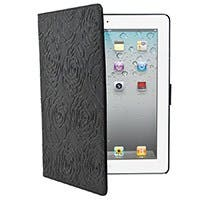 Bloom Genuine Leather Cover and Stand for iPad® 2, iPad 3, iPad 4 - Black