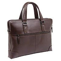 Product Image for 14-inch Genuine Leather Top-Loading Laptop Attache - Chocolate Brown