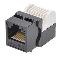 Product Image for Cat5E RJ-45 Toolless Keystone Jack in Black