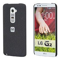 PC Case with Soft Sand Finish for LG G2® - Pumice Black