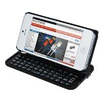 Bluetooth® Pocket Keyboard Case for iPhone® 5/5s - Black