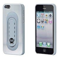 Brushed Aluminum Case w/ Snap-Stand for iPhone® 5/5s/SE - Silver