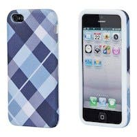 Textile Silicone Case for iPhone® 5/5s - Blue Plaid