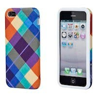 Textile Silicone Case for iPhone® 5/5s - Pretty Plaid