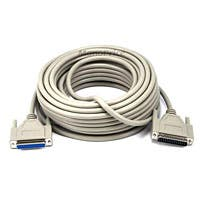 Product Image for 50ft DB25 M/F Molded Cable