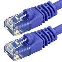 Product Image for 50FT 24AWG Cat5e 350MHz UTP Bare Copper Ethernet Network Cable - Purple
