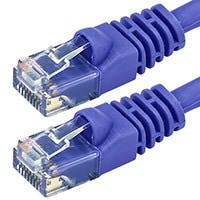 100FT 24AWG Cat6 550MHz UTP Bare Copper Ethernet Network Cable - Purple