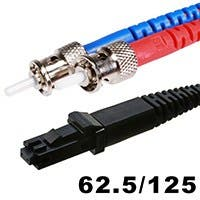 Fiber Optic Cable, MTRJ (Female)/ST, OM1, Multi Mode, Duplex - 2 meter (62.5/125 Type) - Orange