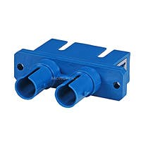 Multimode ST/SC Duplex Fiber Optic Adaptor, Plastic Body