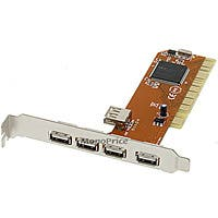 NEC 5 PORT USB 2.0 PCI CARD ADAPTER (4 external ports plus 1 shared internal port)