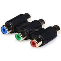 Product Image for 3-RCA RGB Coupler for Component Video Cable Extension