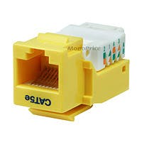 Product Image for Cat5E RJ-45 Toolless Keystone Jack in Yellow 