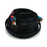 Product Image for 25ft 22AWG 5-RCA Component Video/Audio Coaxial Cable (RG-59/U) - Black