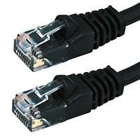 10FT 24AWG Cat5e 350MHz UTP Bare Copper Ethernet Network Cable - Black