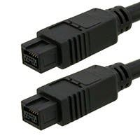 Product Image for 9 PIN/ 9PIN BETA FireWire 800 - FireWire 800 Cable, 10FT, Black