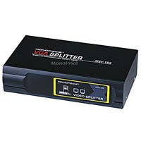 Product Image for 2-Way SVGA VGA Splitter Amplifier Multiplier 400 MHz - Black