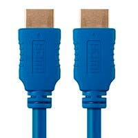 3ft 28AWG High Speed HDMI® Cable w/Ferrite Cores - Blue