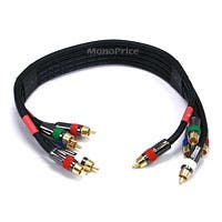 Product Image for 1.5ft 18AWG CL2 Premium 5-RCA Component Video/Audio Coaxial Cable (RG-6/U) - Black