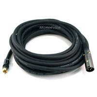 Product Image for 25ft Premier Series XLR Male to RCA Male 16AWG Cable (Gold Plated)