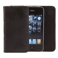 Slim Genuine Leather Pouch for iPhone® 4/4s - Black
