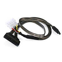 18inch SATA Data and Power Combo Cable - Dark Grey