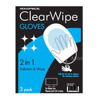 Disposable Screen Cleaning Gloves for LCD and Plasma Displays - Pack of 3