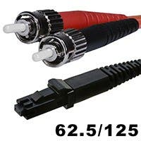Fiber Optic Cable, MTRJ (Female)/ST, OM1, Multi Mode, Duplex - 10 meter (62.5/125 Type) - Orange
