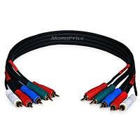 Product Image for 1.5ft 22AWG 5-RCA Component Video/Audio Coaxial Cable (RG-59/U) - Black