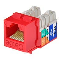 Product Image for Cat5E Punch Down Keystone Jack - Red