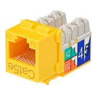 Product Image for Cat5E� Punch Down Keystone Jack - Yellow