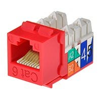 Product Image for Cat6 Punch Down Keystone Jack - Red