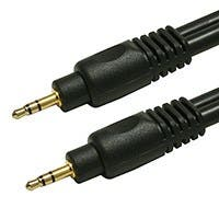 Product Image for 1.5ft Premium 3.5mm Stereo Male to 3.5mm Stereo Male 22AWG Cable (Gold Plated) - Black
