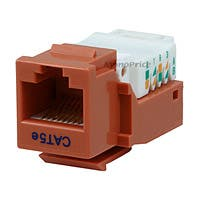 Product Image for Cat5E RJ-45 Toolless Keystone Jack - Orange