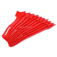 Hook & Loop Fastening Cable Ties, 6-inch, 10pcs/pack, Red