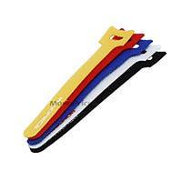 Hook & Loop Fastening Cable Ties, 6-inch, 10pcs/pack, 5 colors