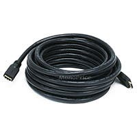 Product Image for 25ft 24AWG CL2 Standard HDMI® Cable With Ethernet Male to Female Extension - Black