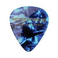 Medium Celluloid Guitar Picks - 12 pc - Abalone Blue