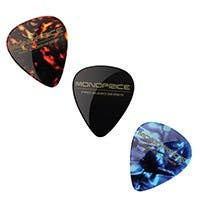 Medium Celluloid Guitar Picks - 12 pc - Assorted Colors