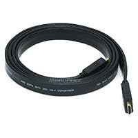 Product Image for 6ft 24AWG CL2 Flat High Speed HDMI® Cable With Ethernet - Black