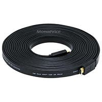 Product Image for 25ft 24AWG CL2 Flat Standard HDMI® Cable With Ethernet - Black