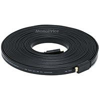 Product Image for 35ft 24AWG CL2 Flat Standard HDMI® Cable With Ethernet - Black