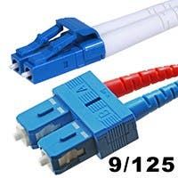 Product Image for Fiber Optic Cable, LC/SC, Single Mode, Duplex - 1 meter (9/125 Type) - Yellow