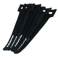 Product Image for Hook & Loop Fastening Cable Ties, 6-inch, 50pcs/pack, Black