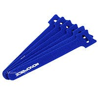 Product Image for Hook & Loop Fastening Cable Ties 6inch, 100pcs/Pack - Blue