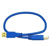 Product Image for 1.5ft USB 3.0 A Male to B Male 28/24AWG Cable (Gold Plated)