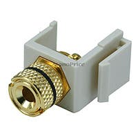Product Image for Keystone Jack - Banana Jack w/Black Ring (Solder Type) - Ivory