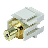 Product Image for Keystone Jack - Modular RCA w/White Center, Flush Type (Ivory)